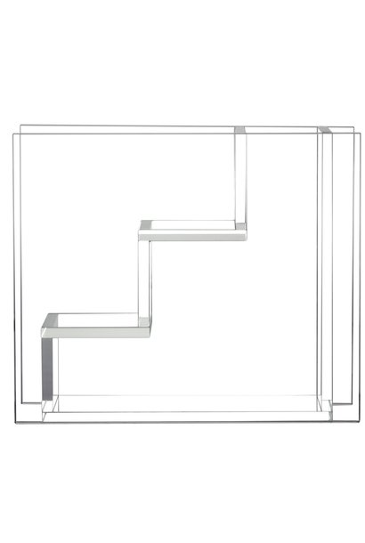 Vaas glass stairs 25x10x21cmTransparant