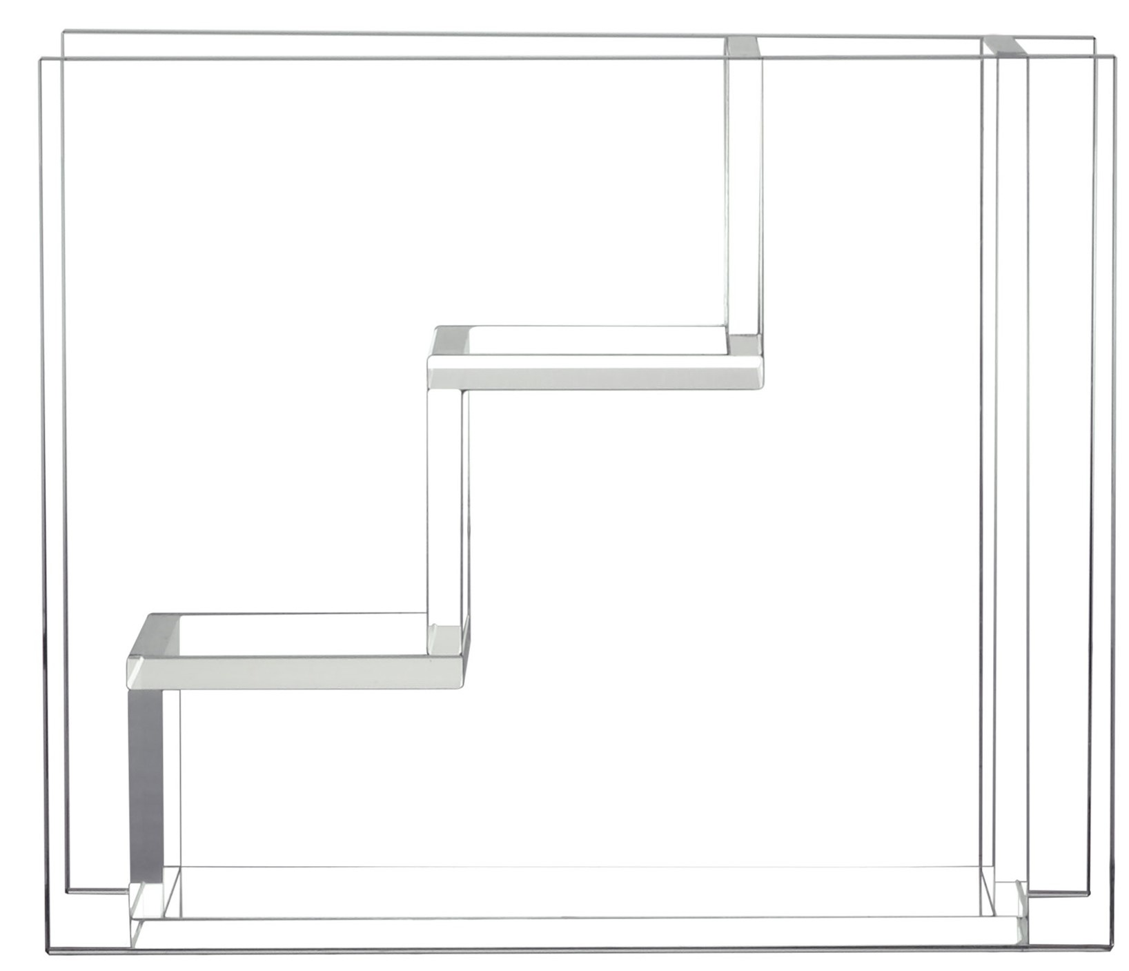 Vaas glass stairs 25x10x21cmTransparant-1