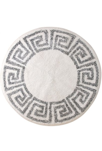 Badmat/Vloerkleed greek key round Ø80cm