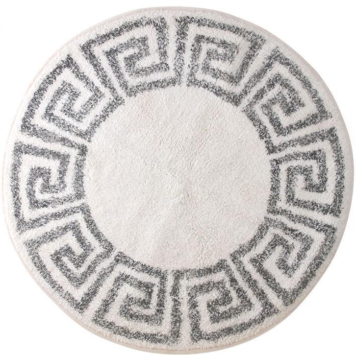 Badmat/Vloerkleed greek key round Ø80cm-1