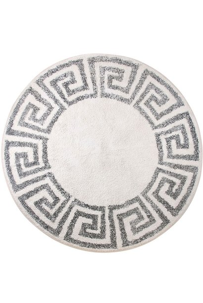 Badmat / Vloerkleed greek key round Ø120cm
