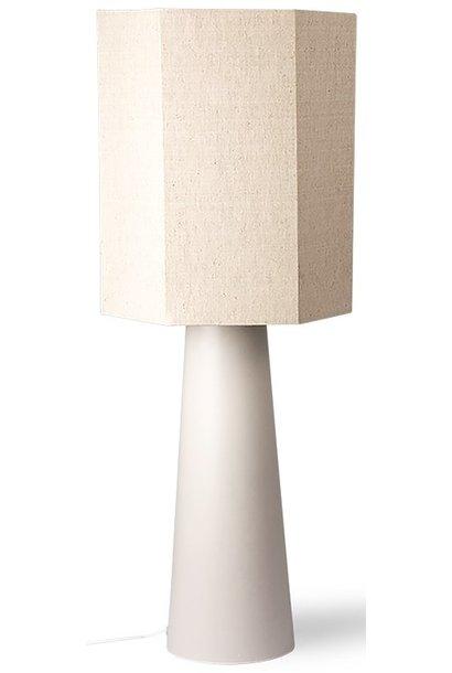 Lampenkap hexagonal linen 36x42cm Natural