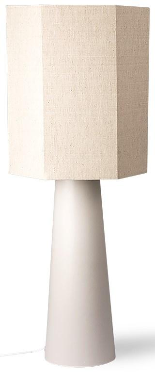 Lampenkap hexagonal linen 36x42cm Natural-1