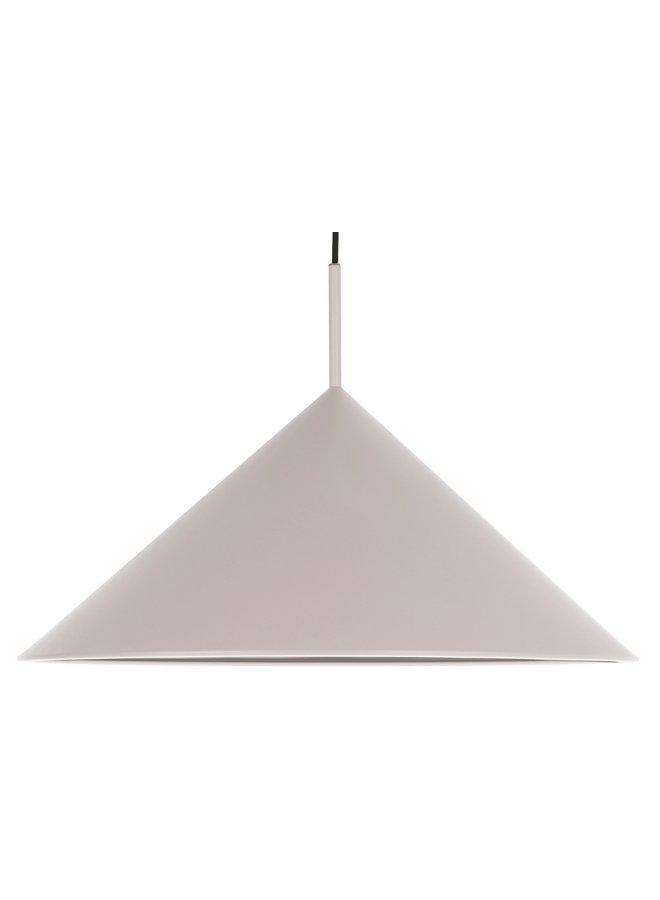 Hanglamp metal triangle pendant l matt warm grey