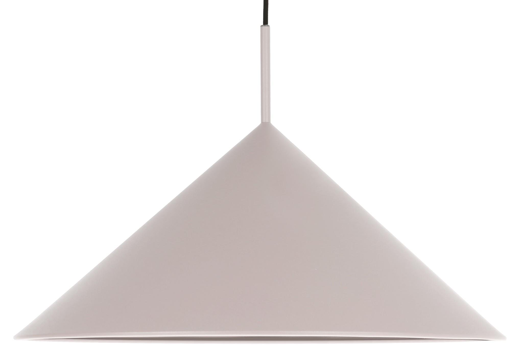 Hanglamp metal triangle pendant l matt 60x39cm Grey-1