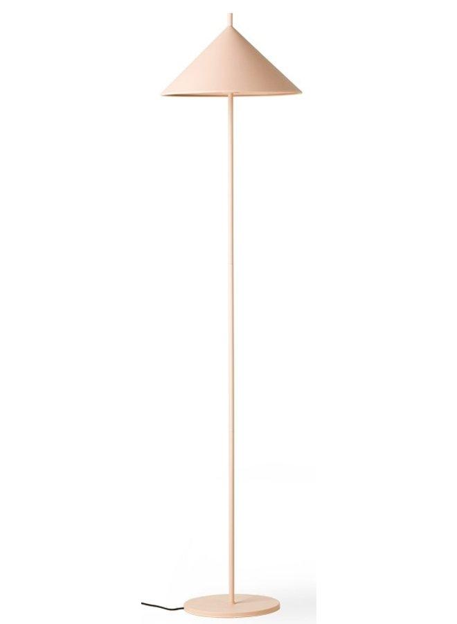 Vloerlamp metal triangle matt nude