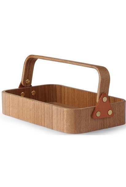 Box willow wooden 1 handle 23x14x6cmNatural