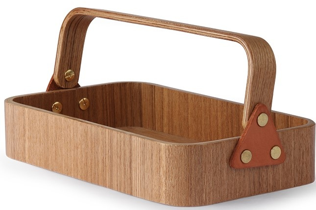 Box willow wooden 1 handle 23x14x6cmNatural-1