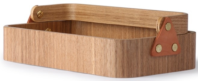 Box willow wooden 1 handle 23x14x6cmNatural-3