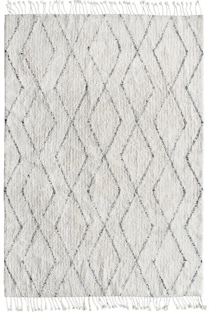 Vloerkleed cotton berber 140x200cm White
