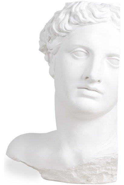 Object plaster statue apollo White