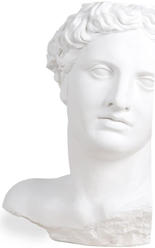 Object plaster statue apollo White-1