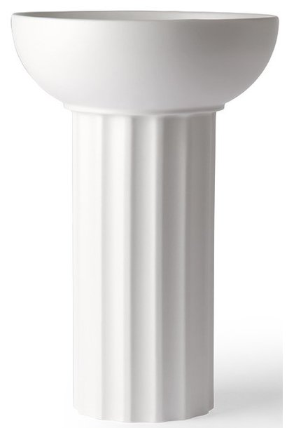 Vaas ceramic greek A 21x32cm White