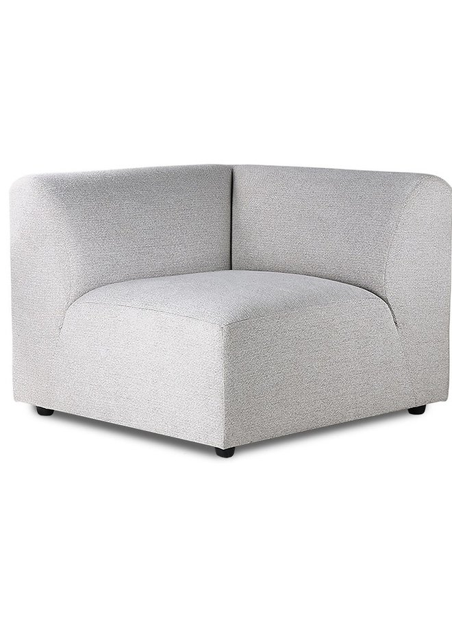 Bank jax couch: element left corner, sneak, light grey