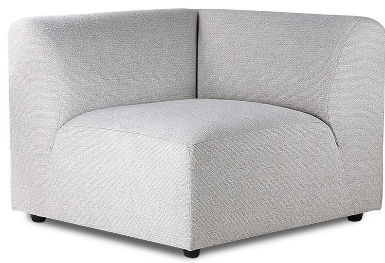 Bank jax couch: element left, sneak, light grey-1
