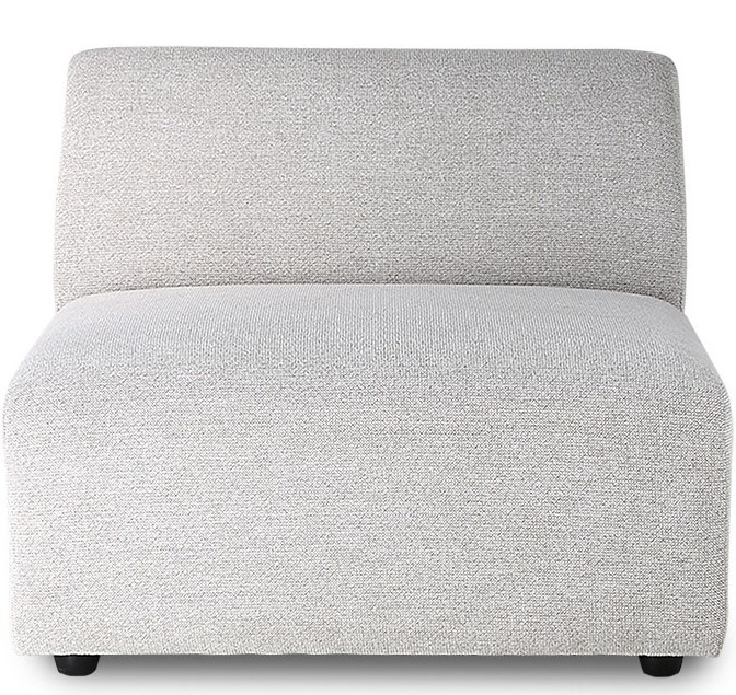 Bank jax couch: element middle, sneak, light grey-1