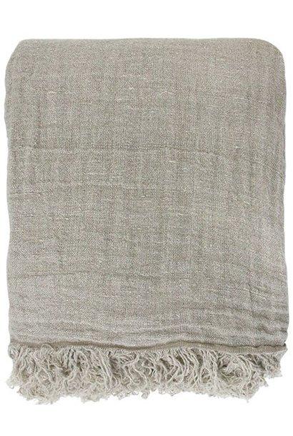 Bedsprei linen bedspread natural 270x270cm