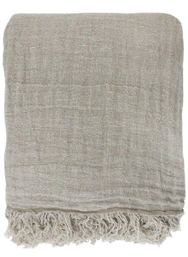 Bedsprei linen bedspread natural 270x270