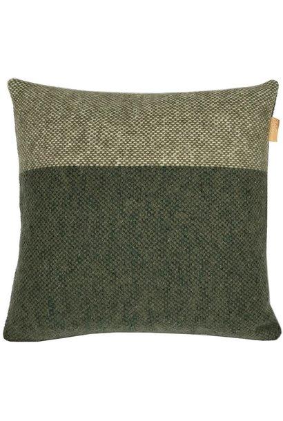 Kussen Easy nature wool 45x45cm Green
