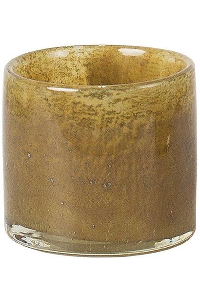 Waxinehouder Mist 8cm Light Brown