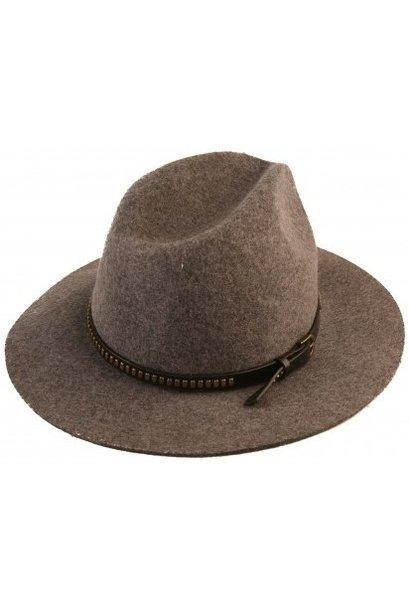 Hoed Cowboy 100% wol 57cm Grey