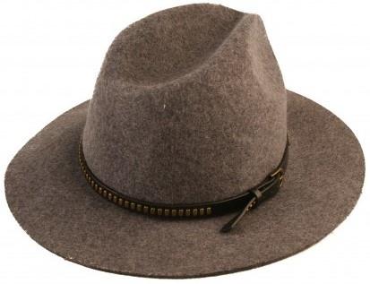Hoed Cowboy 100% wol 57cm Grey-1