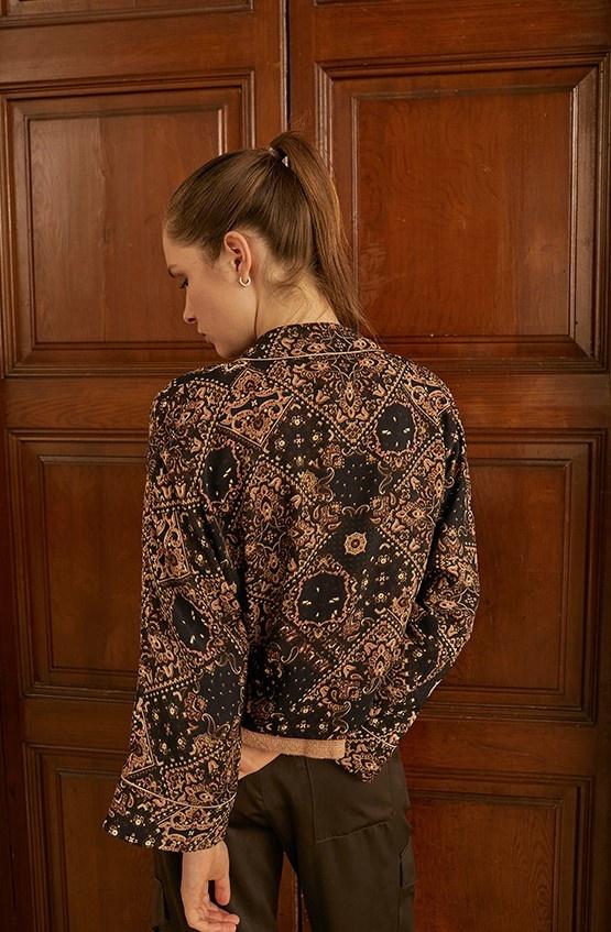 Vest Chaqueta cruzada de twill Onix-2