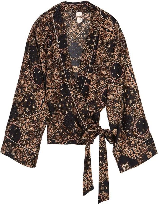 Vest Chaqueta cruzada de twill Onix-1