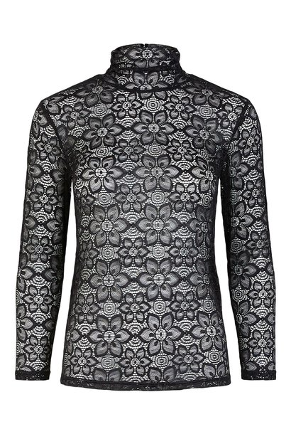 Top Yasfloris kant kol Black