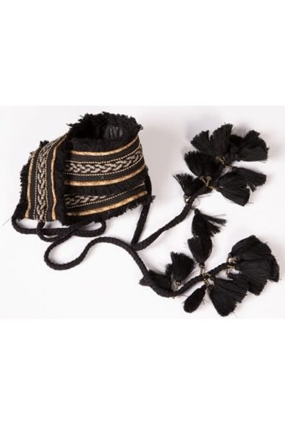 Riem borduursel Black