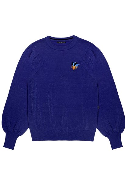 Trui Fine knitted Electric Blue