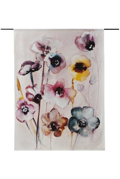 Wandkleed Flowers in soft hues  L 145x190cm