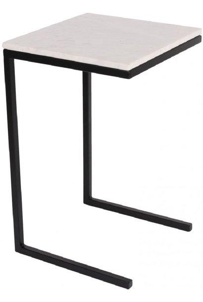 Bijzettafel butler marble L35xW37.5xH58cm