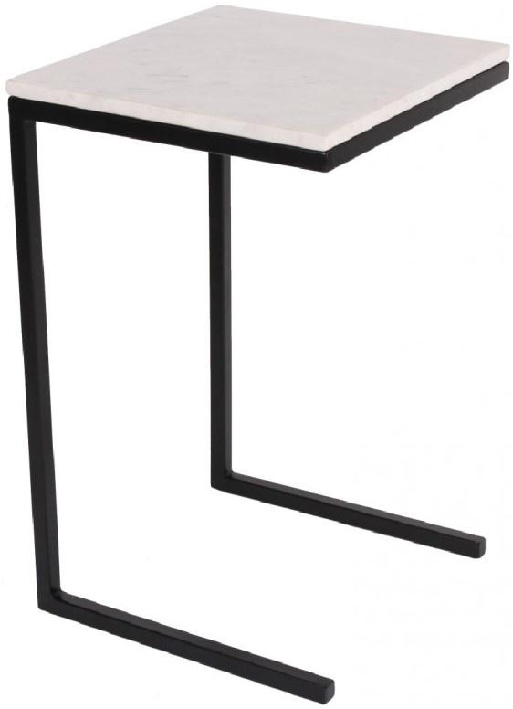 Bijzettafel butler marble 35x37x58cm White-1