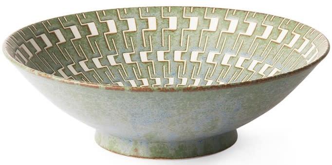 Schaal Kyoto 25x8cm Green White-1