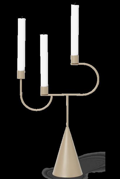 Kandelaar Avant 26x39x10cm Macaroon