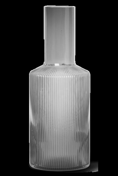 Karaf Ripple Ø9xH24cm Grey