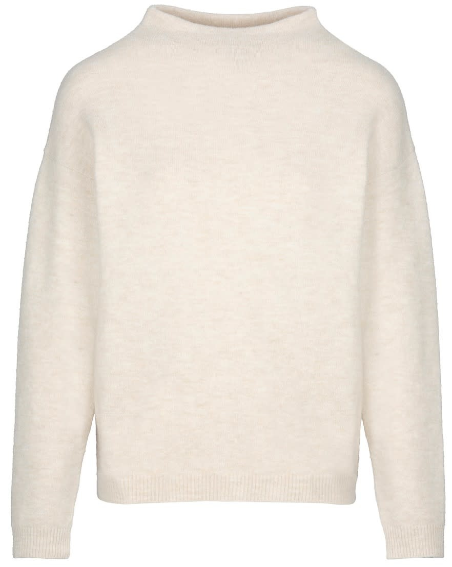 Trui Moss solid Oyster-1