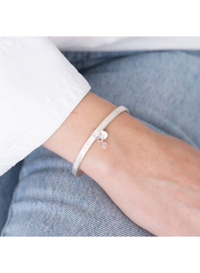 Armband Pure Quartz Silver Rose