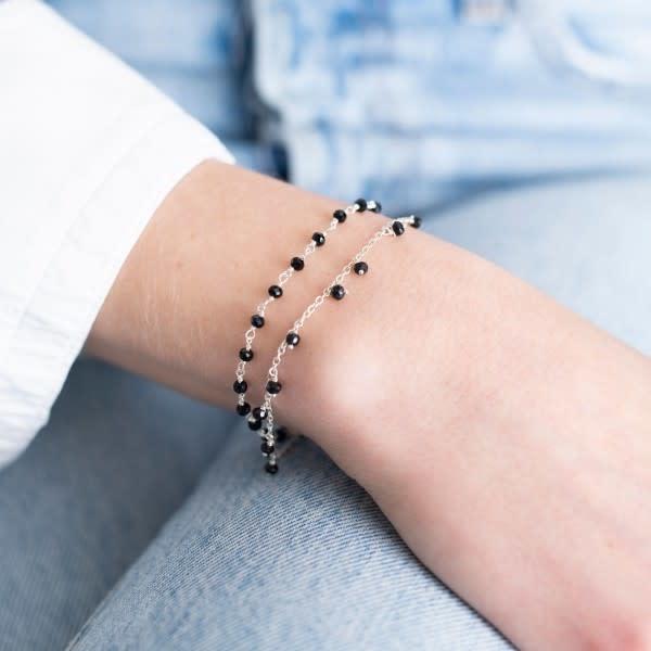 Armband Fine Onyx Sterling Silver Black-2
