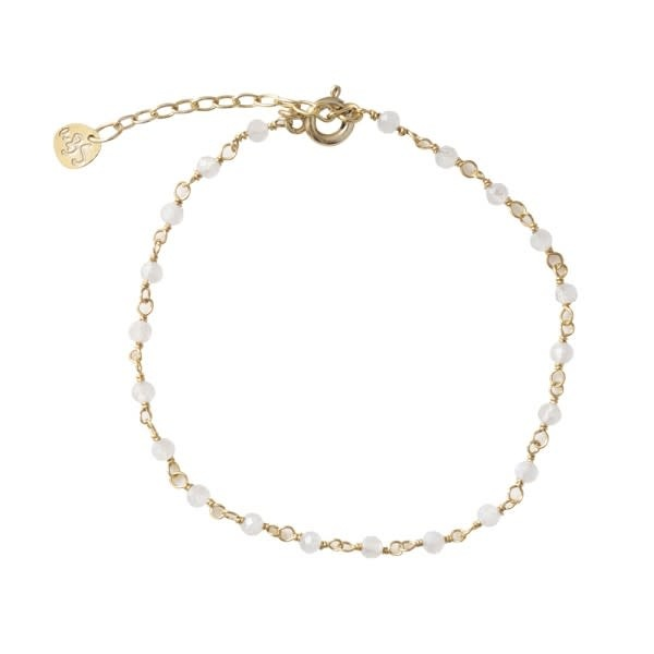 Armband Harmony Maansteen Sterling Gold White-1