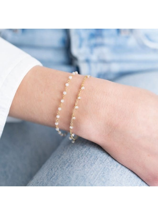 Armband Harmony Maansteen Sterling Gold White