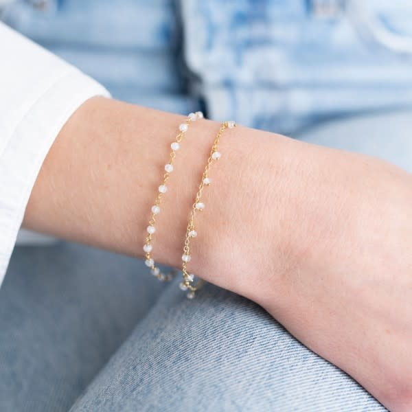 Armband Harmony Maansteen Sterling Gold White-2