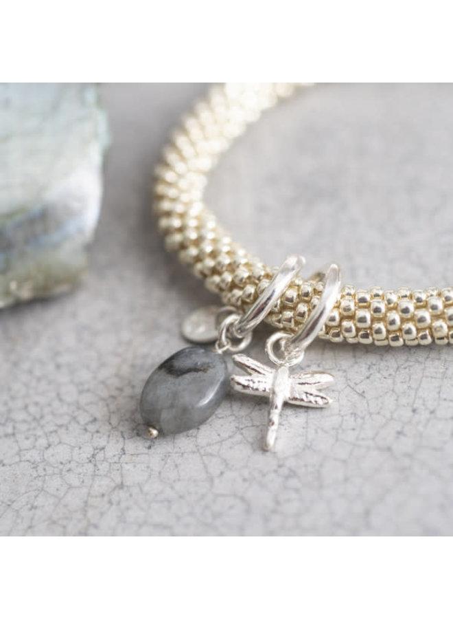 Armband Jacky Labradorite Dragonfly Silver