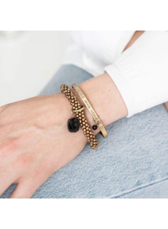 Armband Pure Onyx Gold Black