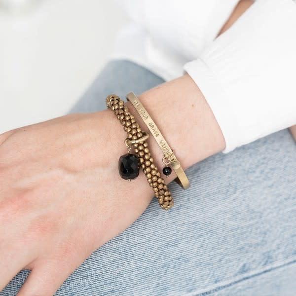 Armband Pure Onyx Gold Black-2