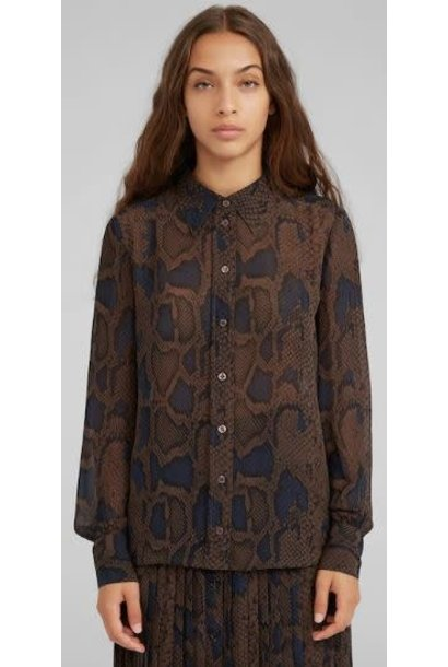 Blouse Cedrella snake Brown