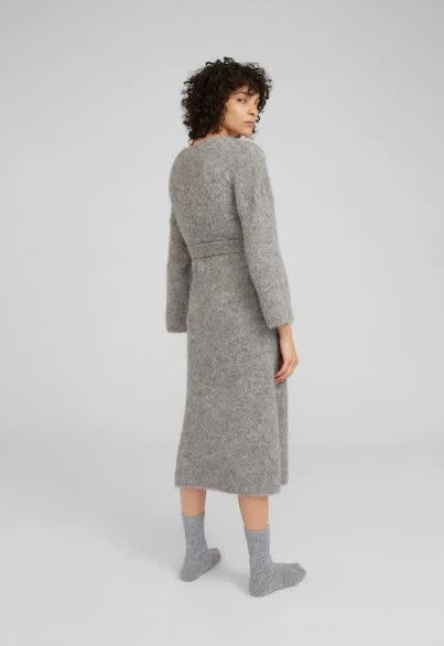 Jurk Isac knit Grey-2