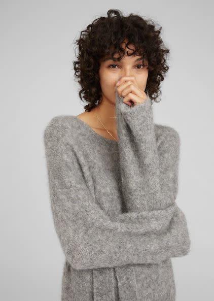 Jurk Isac knit Grey-1