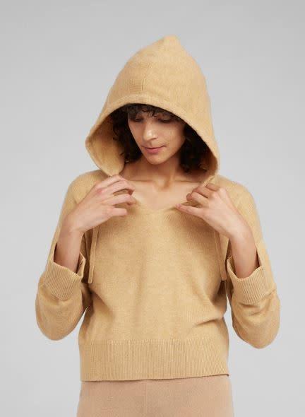 Pullover capuchon Camel-1